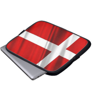 Flag of Denmark Neoprene Laptop Sleeve