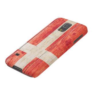 Flag of Denmark on Wood Galaxy S5 Cases