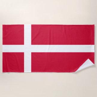 Flag of Denmark or Danish Cloth Beach Towel