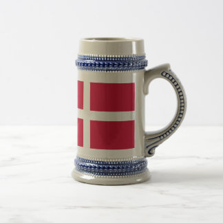 Flag of Denmark or Danish Cloth Beer Stein