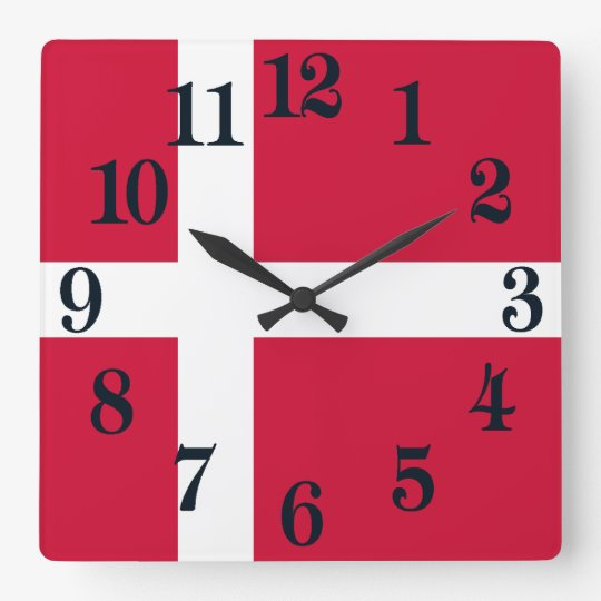 Flag of Denmark or Danish Cloth Clocks