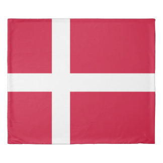 Flag of Denmark or Danish Cloth Duvet Cover