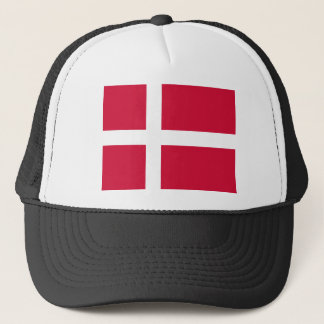 Flag of Denmark or Danish Cloth Trucker Hat