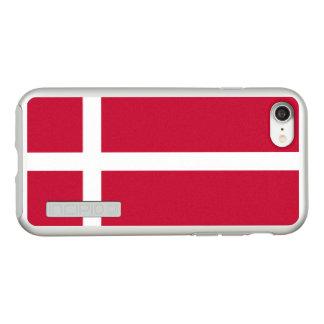 Flag of Denmark Silver iPhone Case
