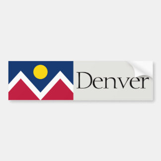 Flag of Denver bumper sticker