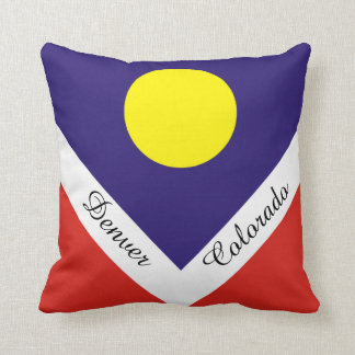 Flag of Denver Native American Throw Pillow