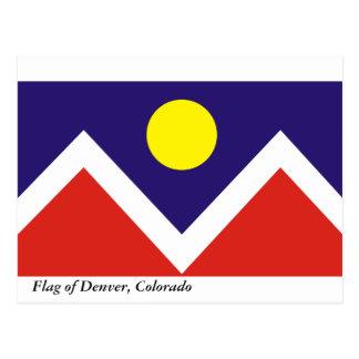 Flag of Denver Postcard