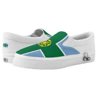 Flag of Derbyshire Slip-On Sneakers