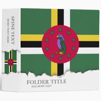 Flag of Dominica 3 Ring Binder