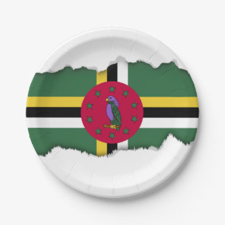 Flag of Dominica 7 Inch Paper Plate