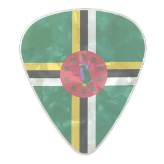 Flag of Dominica Guitar Picks Pearl Celluloid Guitar Pick