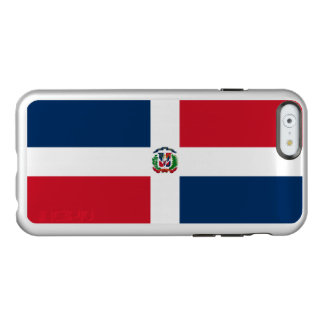 Flag of Dominican Republic Silver iPhone Case Incipio Feather® Shine iPhone 6 Case