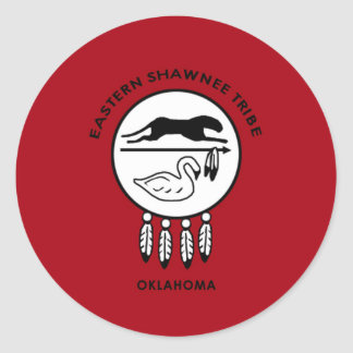 Flag of Eastern Shawnee Classic Round Sticker