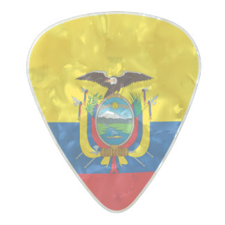 Flag of Ecuador Guitar Picks Pearl Celluloid Guitar Pick