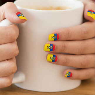 Flag of Ecuador Minx Nail Art