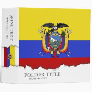 Flag of Ecuador Vinyl Binder