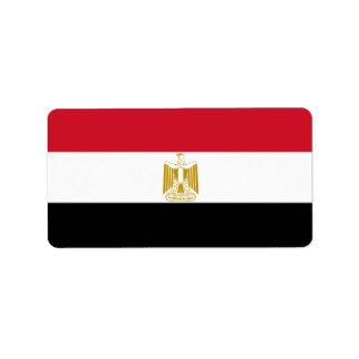 Flag of Egypt - علم مصر - Egyptian Flag Label