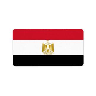Flag of Egypt Label