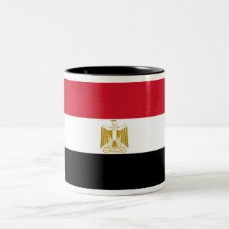 Flag of Egypt Two-Tone Coffee Mug