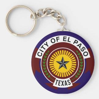 Flag of El Paso Basic Round Button Keychain