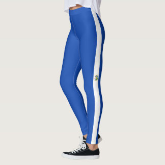 Flag of El Salvador Leggings