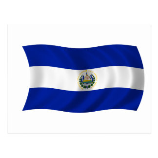 Flag of El Salvador Postcard
