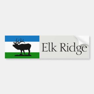 Flag of Elk Ridge, Utah bumper sticker