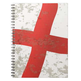 Flag of England and Saint George Grunge Note Books
