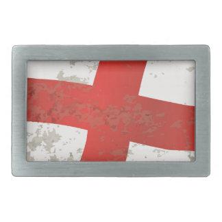 Flag of England and Saint George Grunge Rectangular Belt Buckle