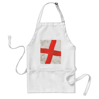Flag of England and Saint George Grunge Standard Apron
