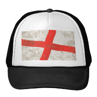 Flag of England and Saint George Grunge Trucker Hat