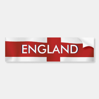 Flag Of England Bumper Sticker