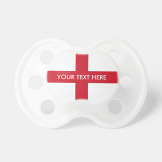 Flag of England custom baby pacifier
