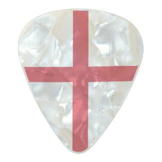 Flag of England Guitar Picks Pearl Celluloid Guitar Pick