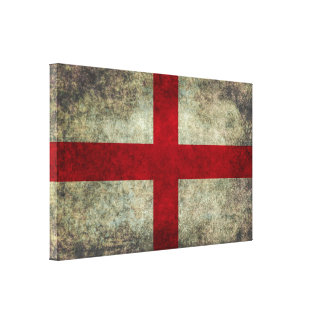 Flag of England in vintage retro style Canvas Print