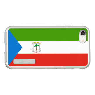 Flag of Equatorial Guinea Silver iPhone Case