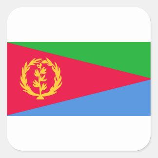 Flag of Eritrea - የኤርትራ ሰንደቅ ዓላማ - علم إريتريا Square Sticker