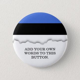 Flag of Estonia 2 Inch Round Button