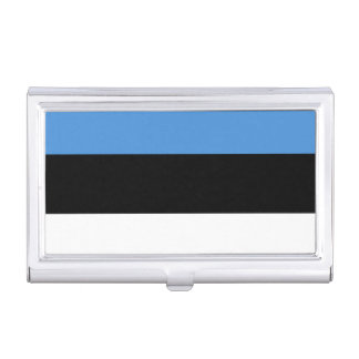 Flag of Estonia Business Card Holder