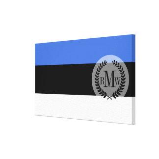 Flag of Estonia Canvas Print