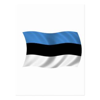 Flag of Estonia Postcard