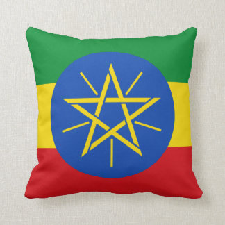 Flag of Ethiopia Throw Pillow