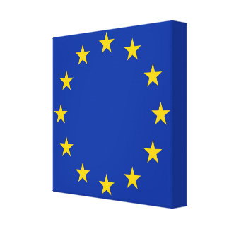 Flag of Europe, European Flag Canvas Print