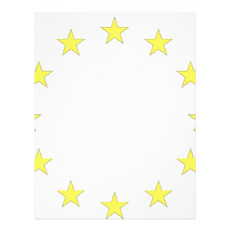 Flag of Europe - European Flag - EU European Union Letterhead