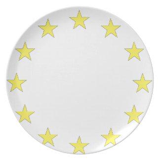 Flag of Europe - European Flag - EU European Union Party Plates