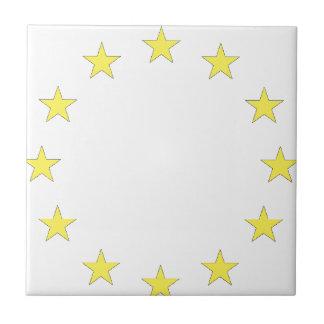 Flag of Europe - European Flag - EU European Union Tile