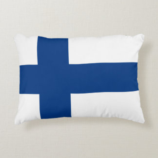 Flag of Finland Blue Cross Flag Accent Pillow