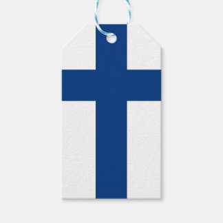 Flag of Finland Blue Cross Flag Gift Tags