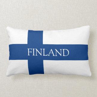 Flag of Finland Blue Cross Flag Lumbar Pillow