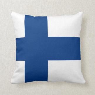 Flag of Finland Blue Cross Flag Throw Pillow
